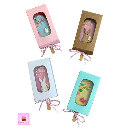Doosjes voor cakesicle - diverse kleuren - 5 x 9 x 3 cm (10 stuks)