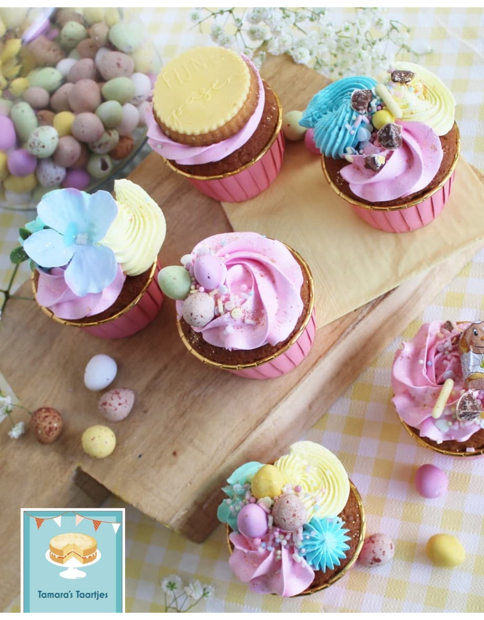 Cupcake liners pink & gold (50 pieces)