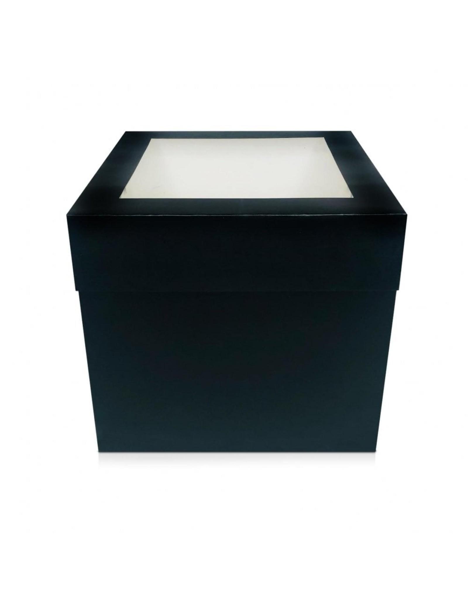 Zwarte hoge taartdoos - 266 x 266 x 254 mm (per 25 stuks)