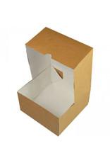 Kraft cake box - 152 x 152 x 76 mm (per 25 pieces)