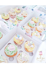 Floral box for 6 cupcakes (per 10 pieces)