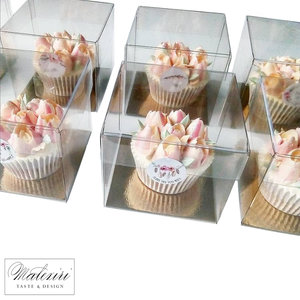 Clear cube for 1 cupcake (100 pcs.)