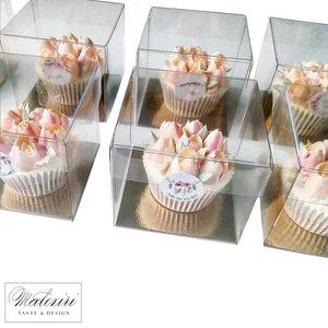 Transparante kubus voor 1 cupcake (100 st.)