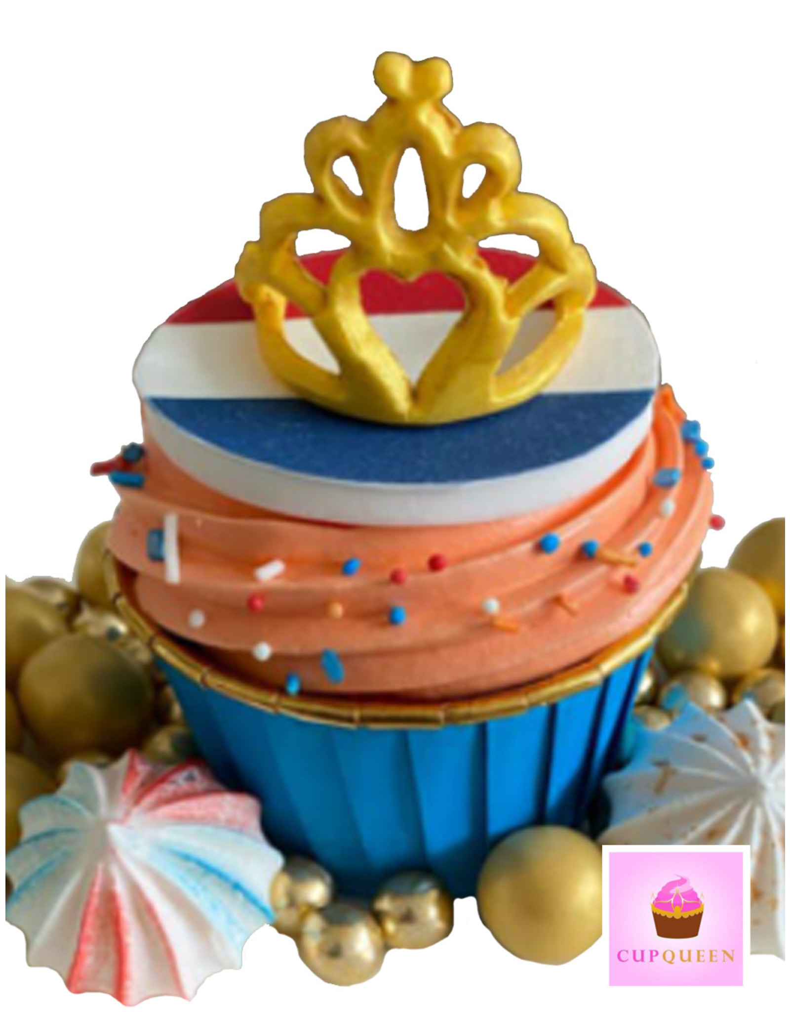 Cupcake liners blue & gold (50 pieces)