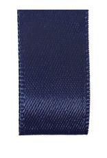 Double face satin ribbon - Dark blue (25 m.)