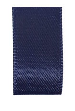 Premium lint satijn - Navy (25 meter)