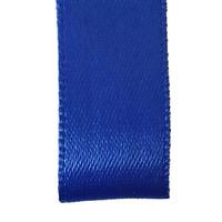 Double face satin ribbon - Blue