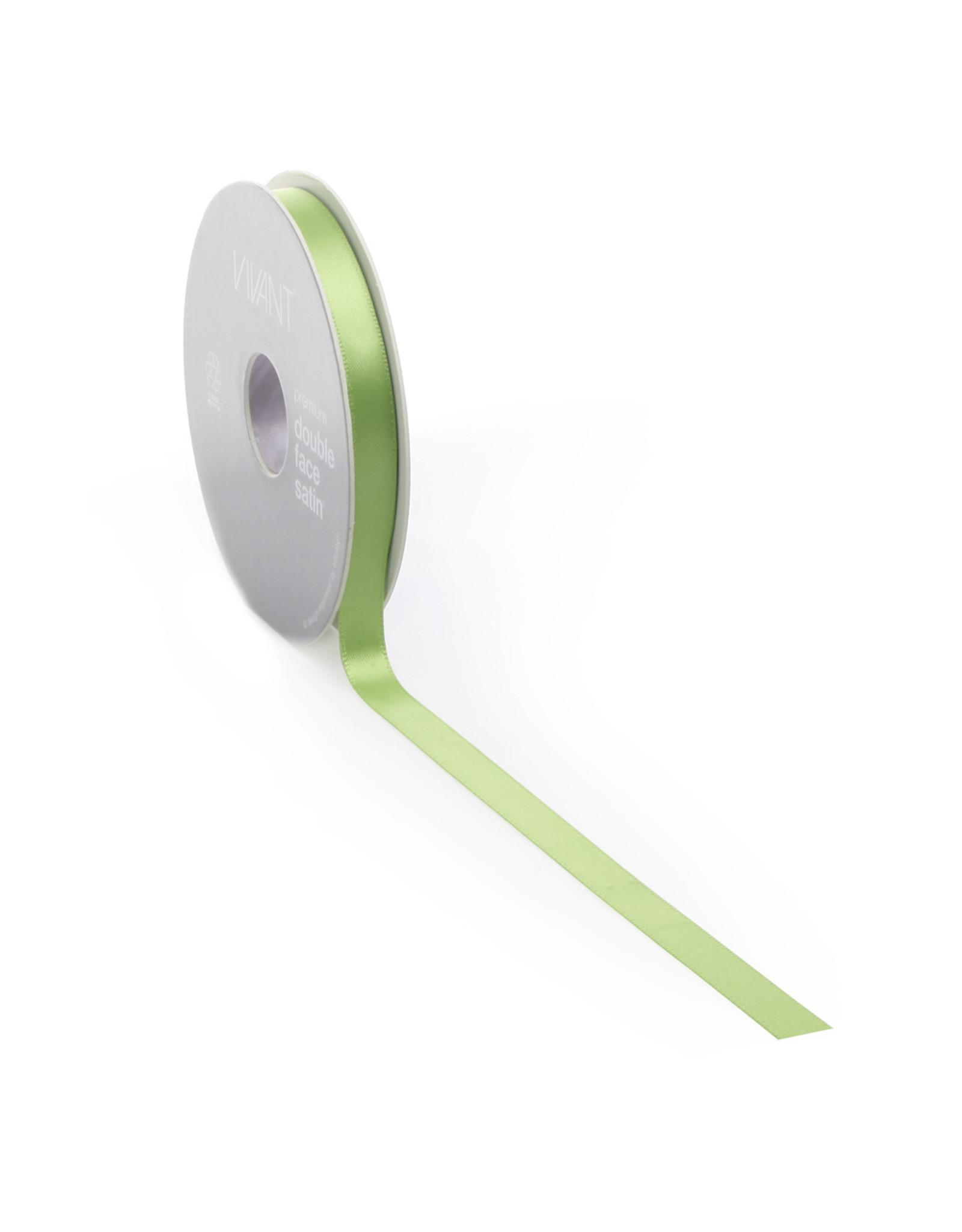 Double face satin ribbon - Spring green (25 m.)