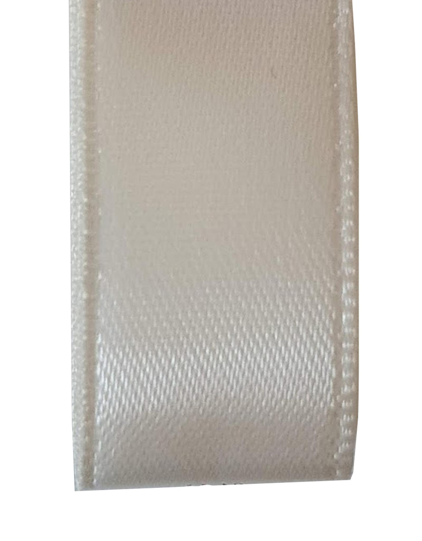 Premium lint satijn - Ivoor (25 meter)
