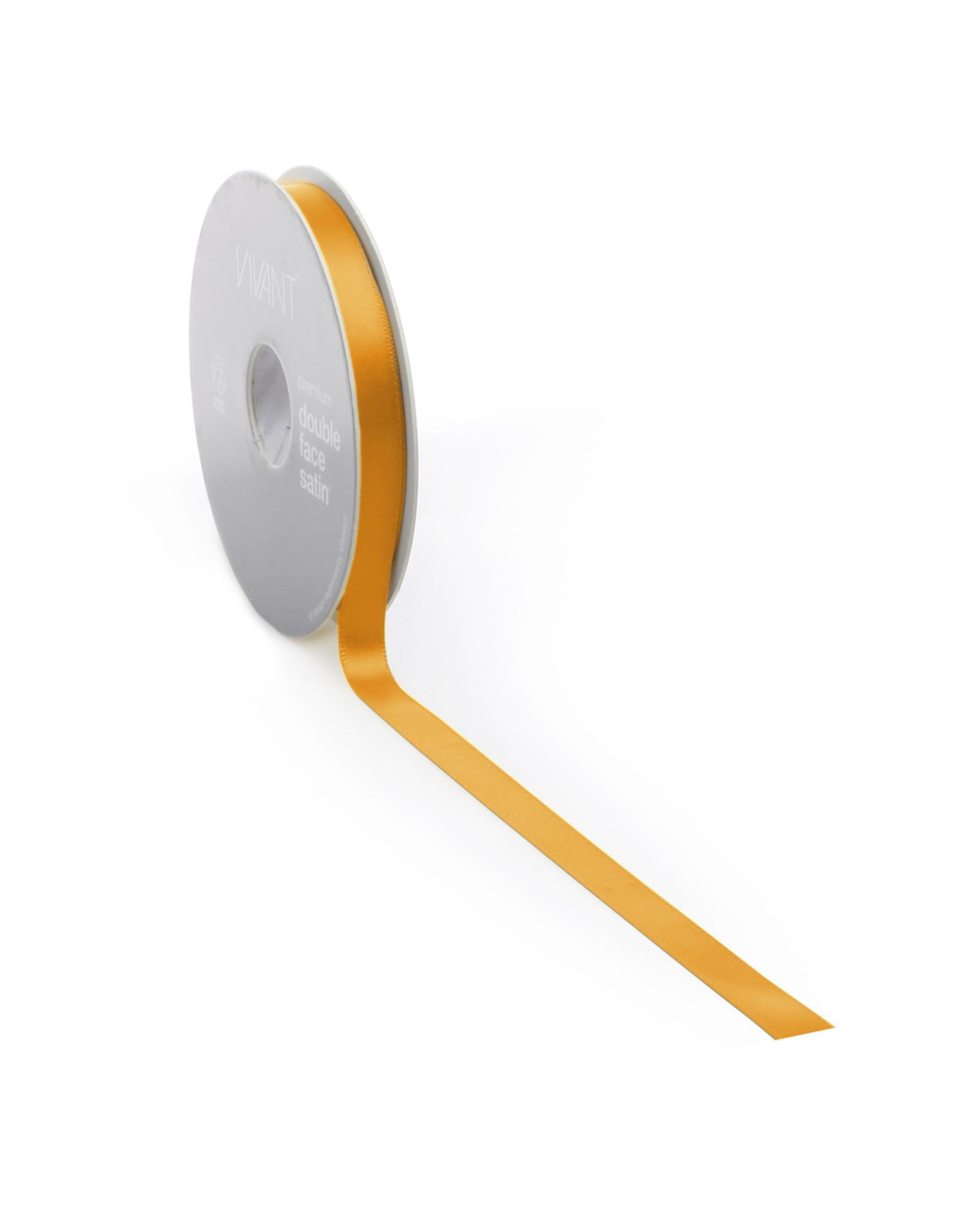 Premium lint satijn - Oranje (25 meter)