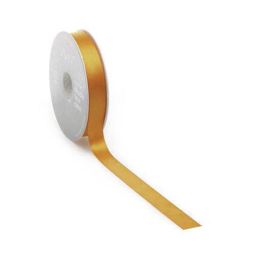 Double face satin ribbon - Orange (25 m.)
