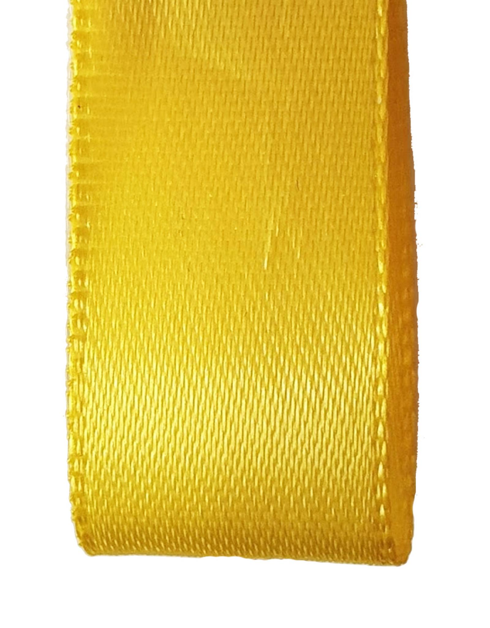 Double face satin ribbon - Yellow (25 m.)
