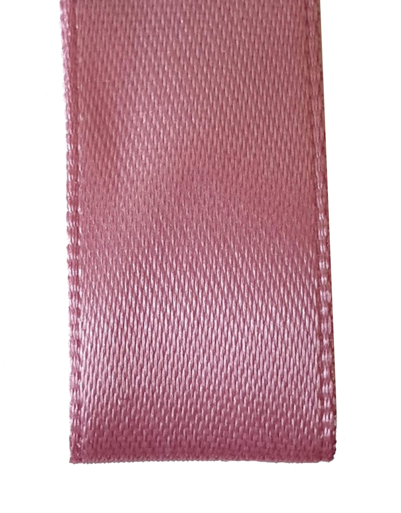 Premium lint satijn - Oud roze (25 meter)