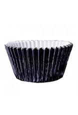 Metallic baking cups - zwart (500 stuks)