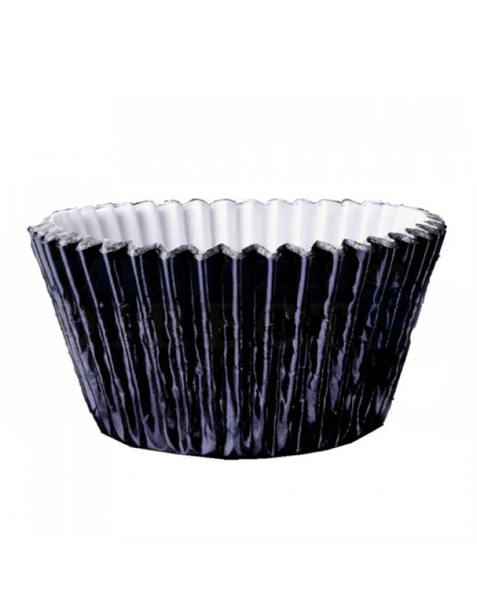 Metallic baking cups - black (500 pieces)