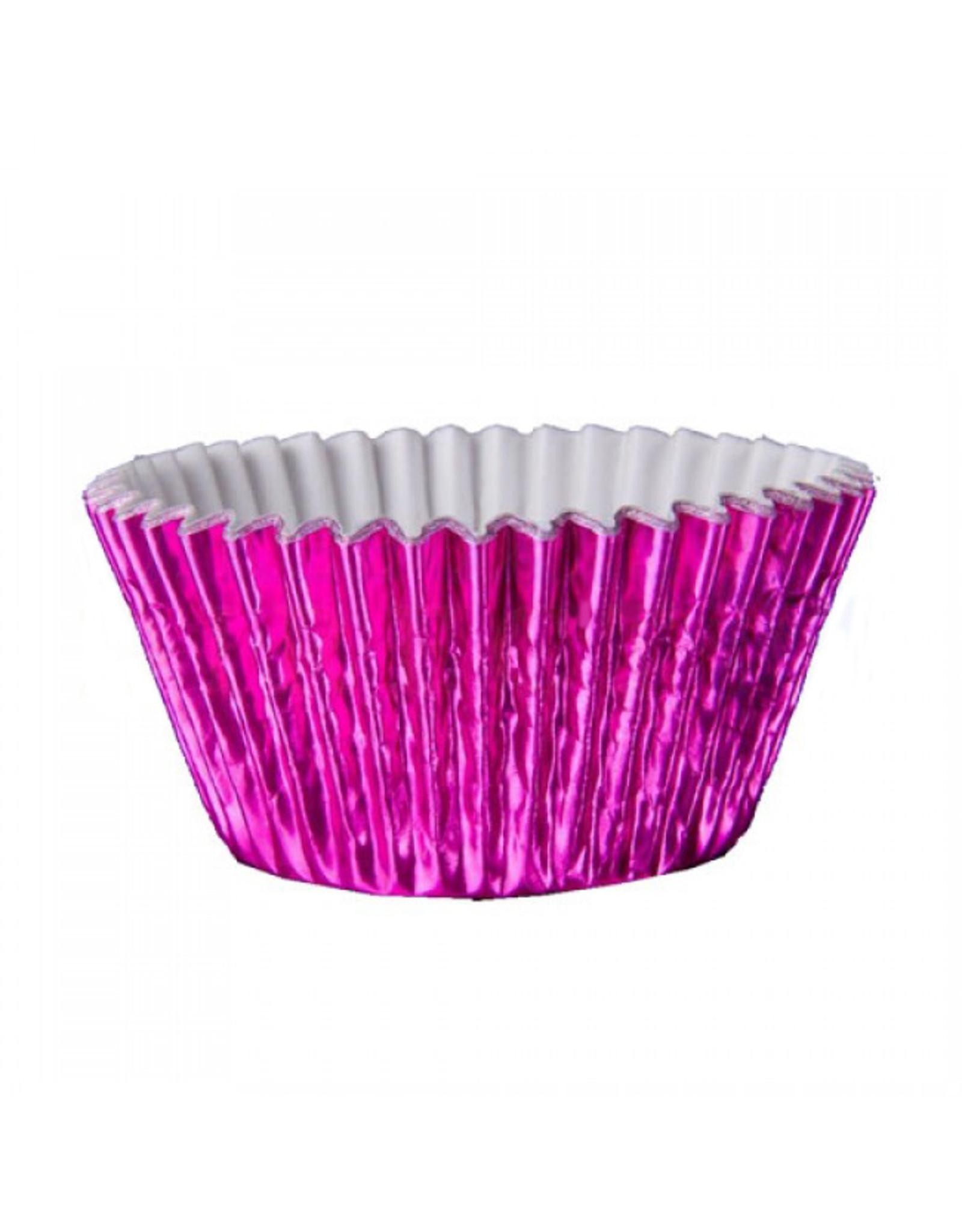 Metallic baking cups - fuchsia (500 stuks)