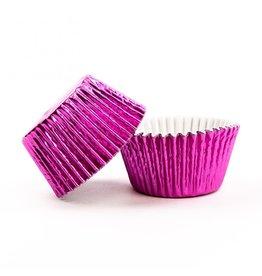Metallic baking cups - hot pink (500 pcs.)