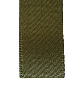Double face satin ribbon - Moss green