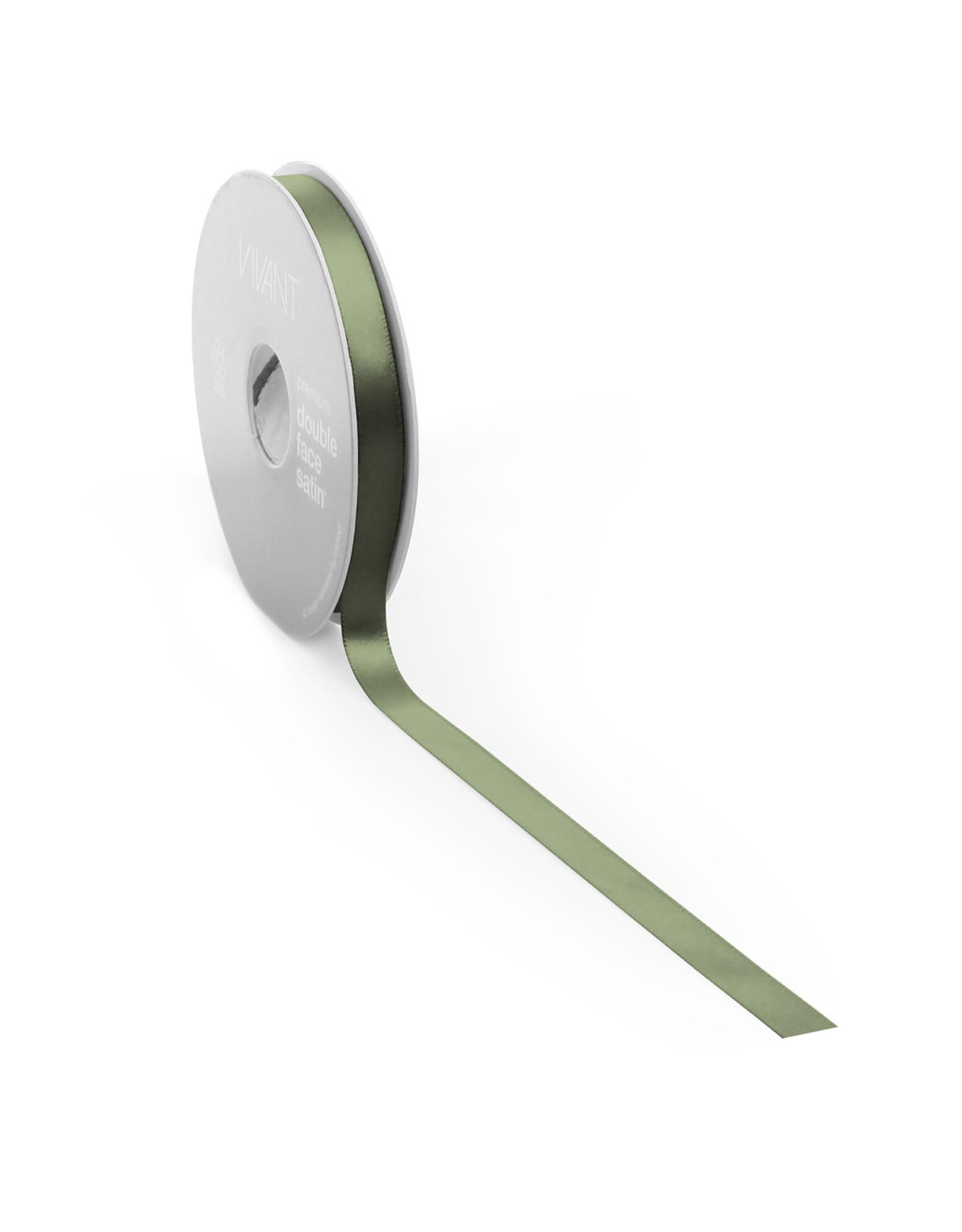 Double face satin ribbon - Moss green (25 m.)