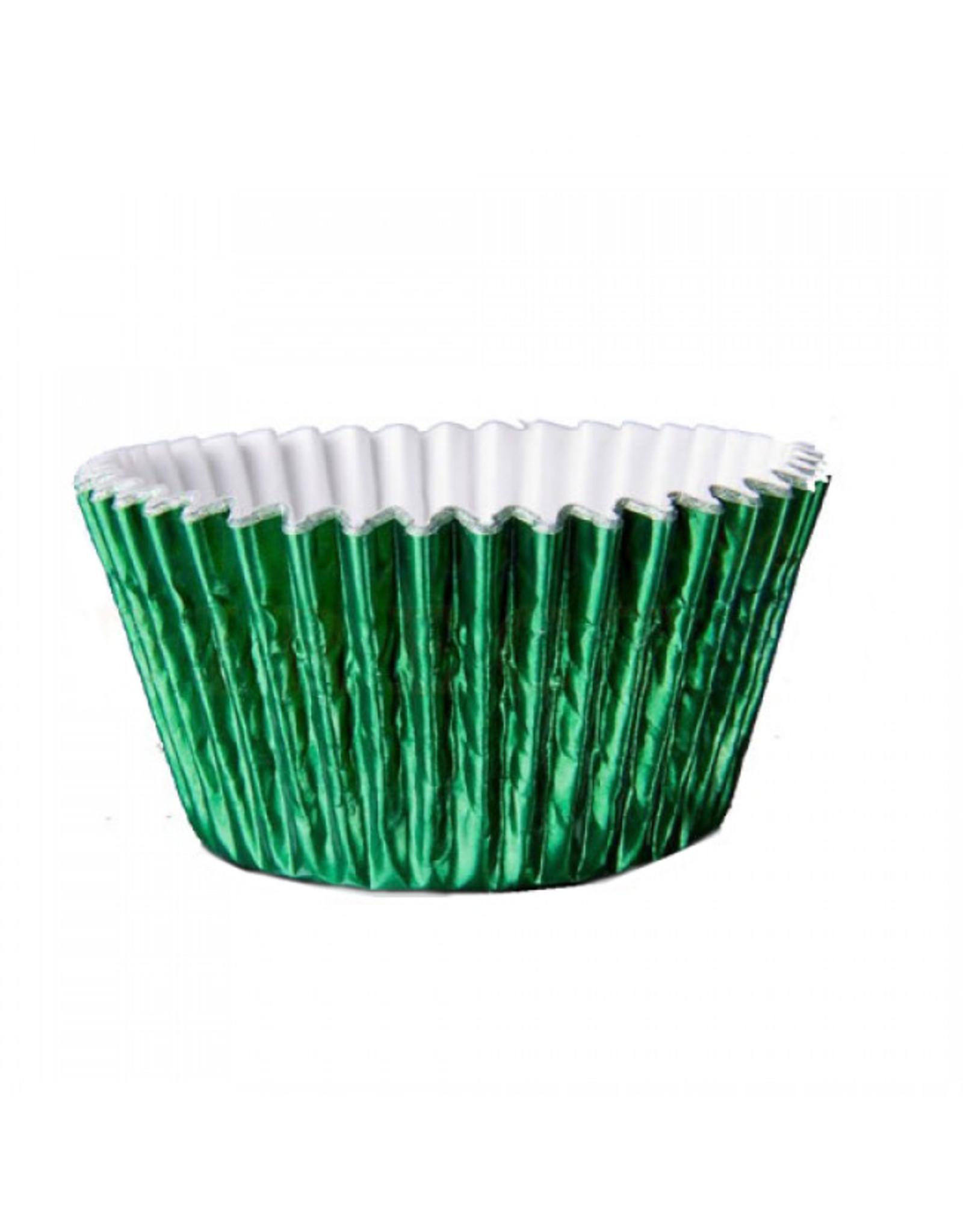 Metallic baking cups - green (500 pieces)