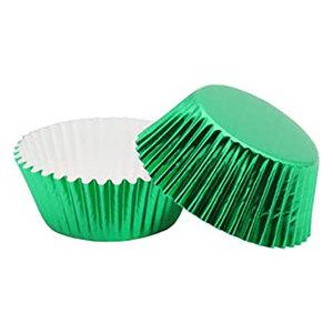 Metallic baking cups - groen (500 stuks)