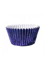 Metallic baking cups - navy (500 pieces)