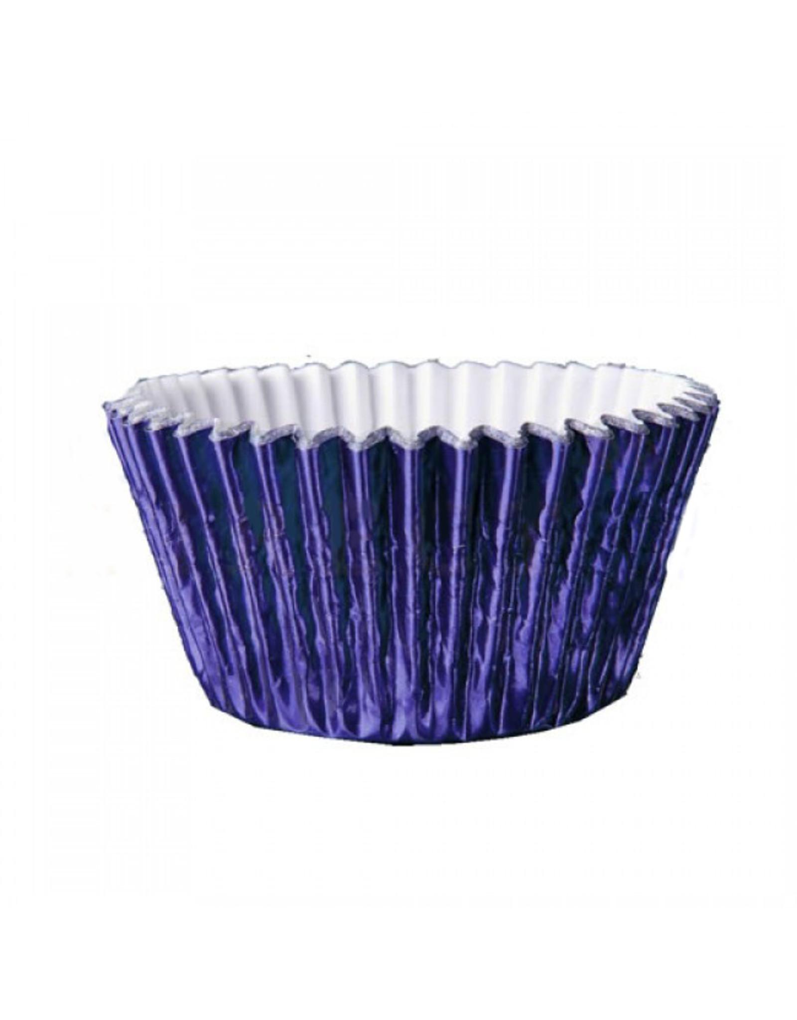 Metallic baking cups - navy (500 stuks)