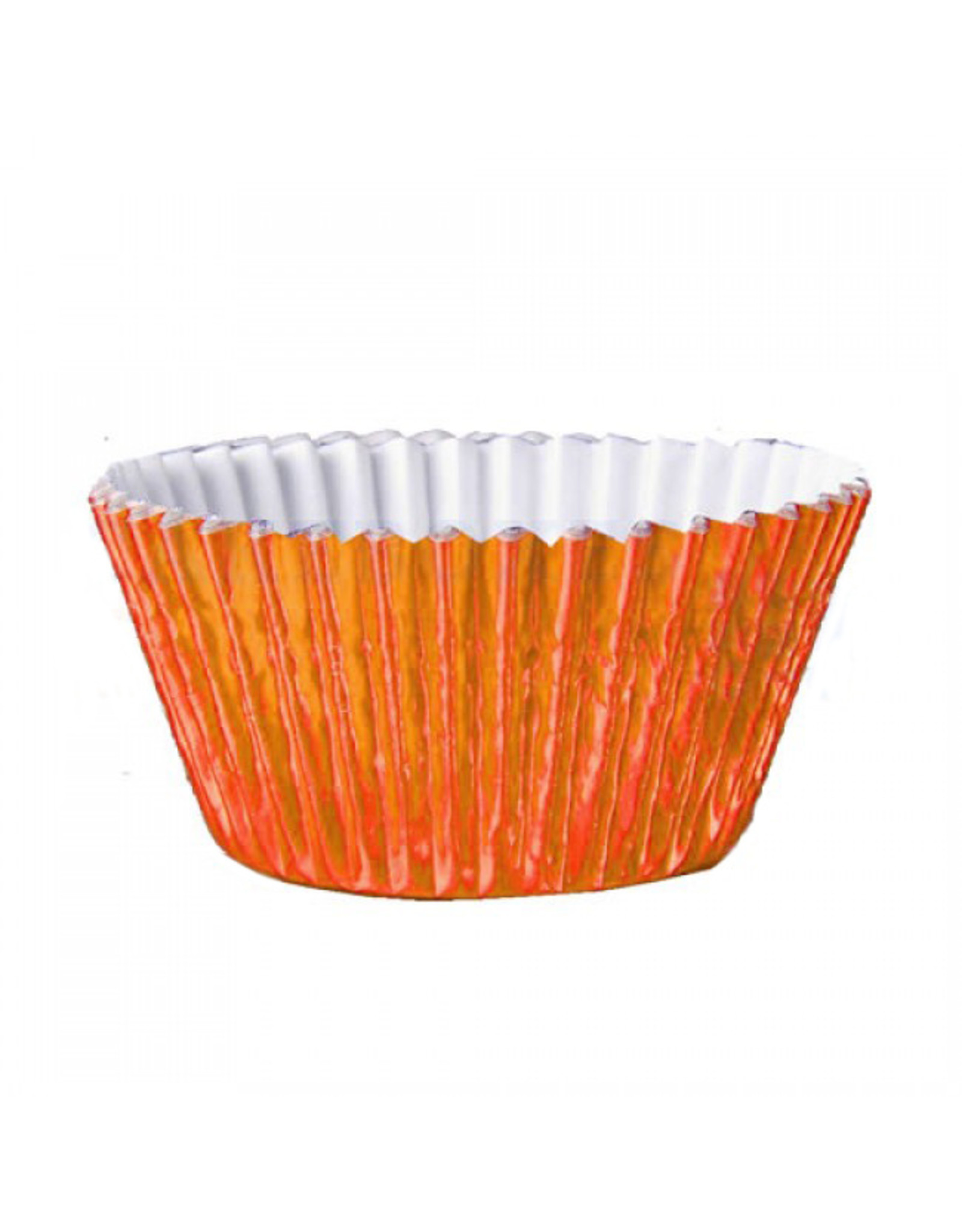 Metallic baking cups - orange (500 pieces)