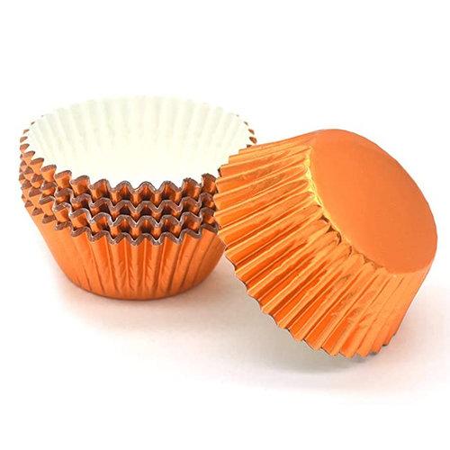 Metallic baking cups - orange (500 pcs.)