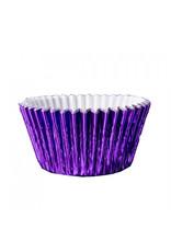 Metallic baking cups - purple (500 pieces)