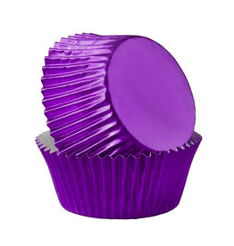 Metallic baking cups - purple (500 pcs.)