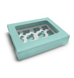 Mint doos voor 12 cupcakes (10 st.)