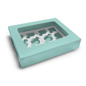 Mint box for 12 cupcakes (10 pcs.)