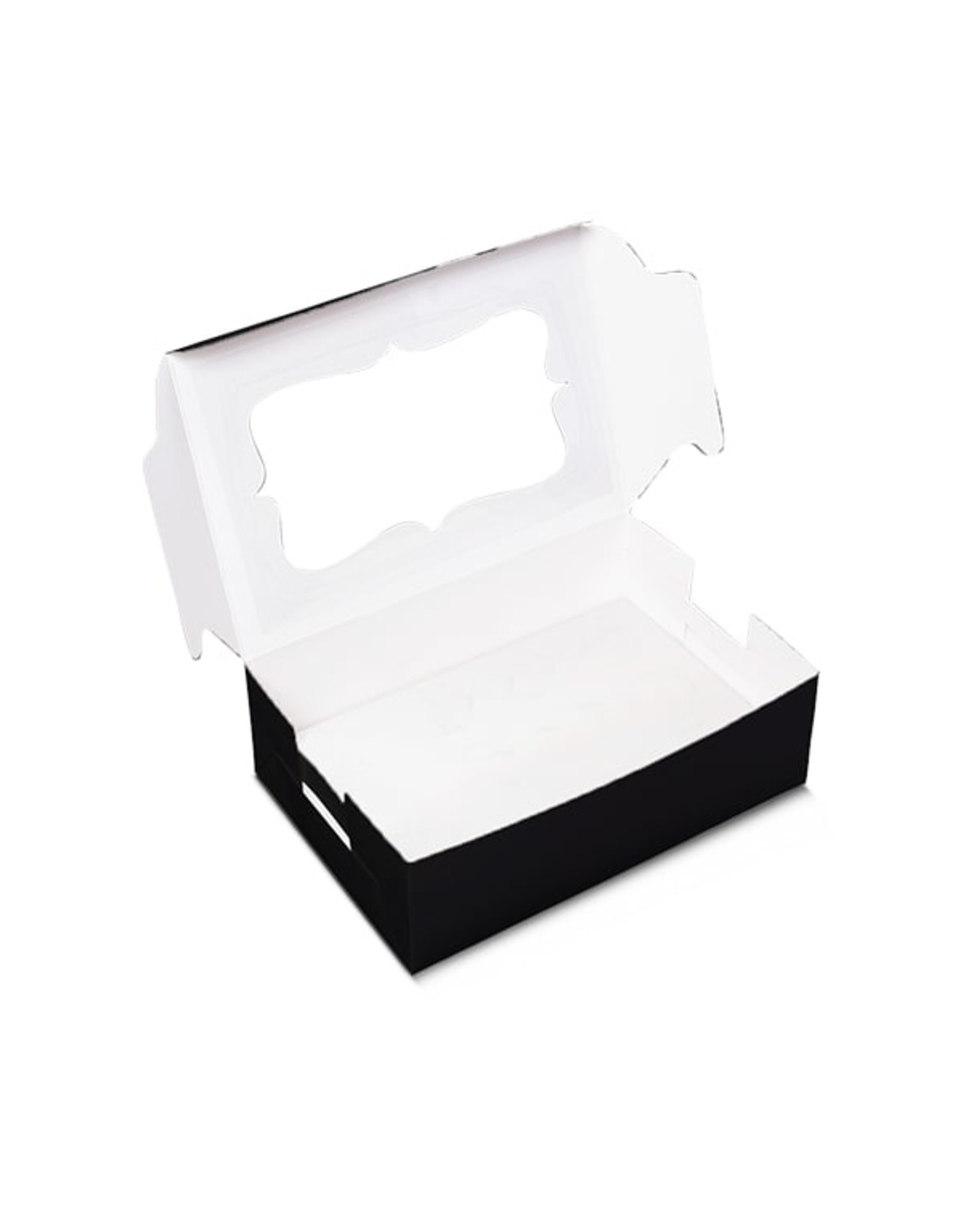 Black box for 6 cupcakes (per 10 pieces)