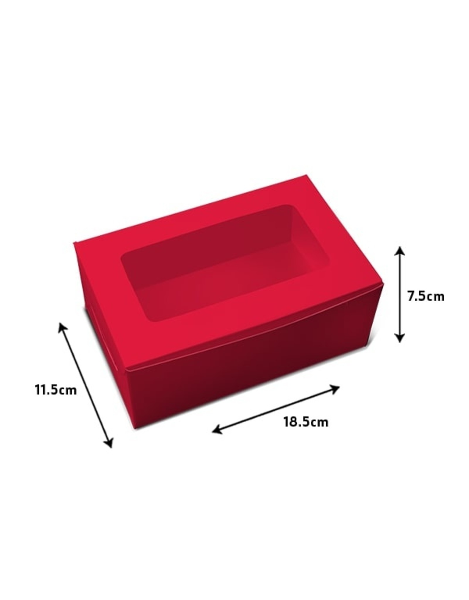 Red box for 2 cupcakes (per 10 pieces)