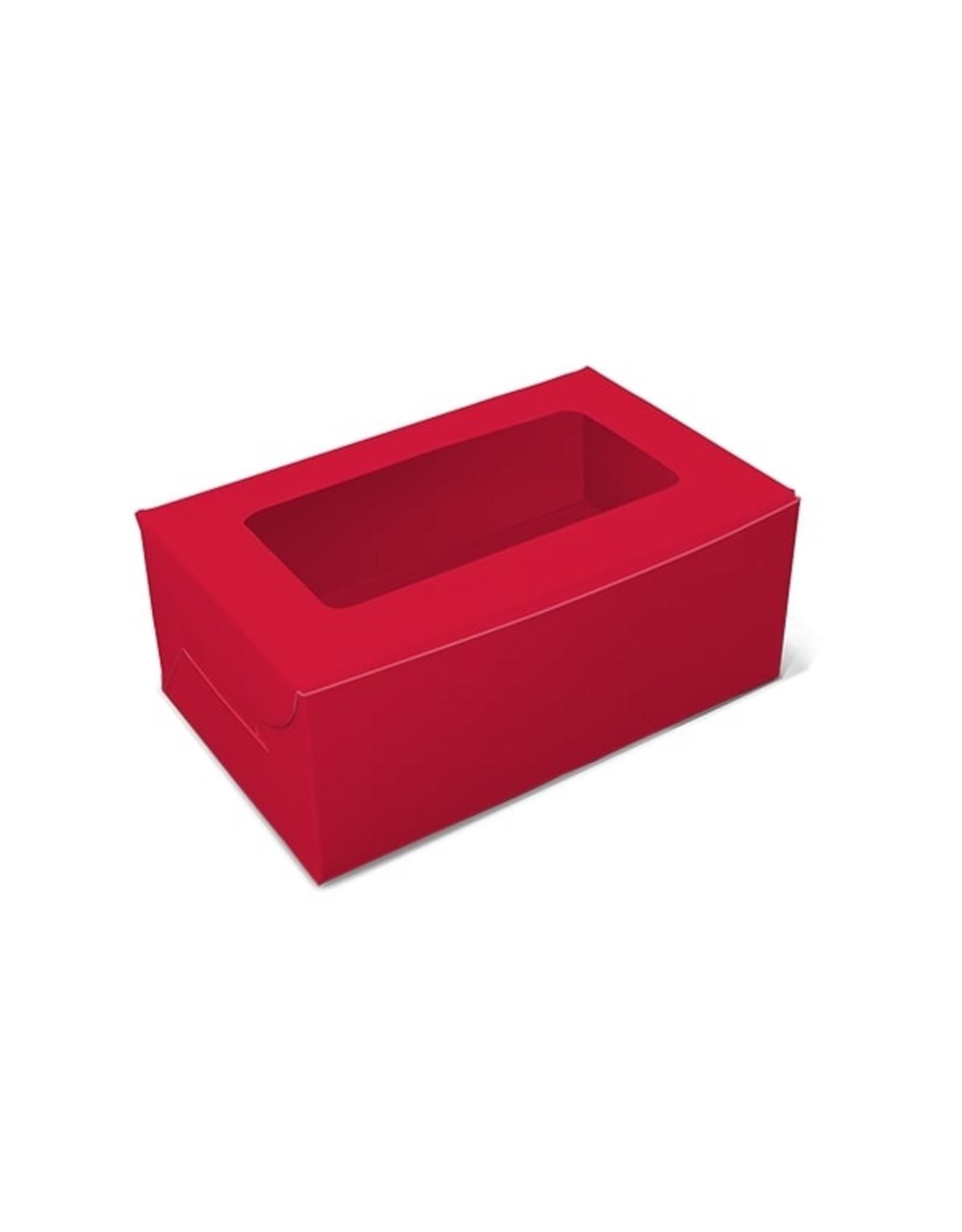 Rode doos voor 2 cupcakes (per 10 stuks)