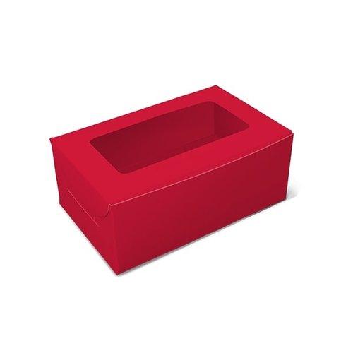 Rode doos voor 2 cupcakes (10 st.)