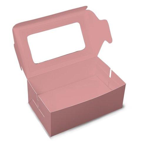 Roze doos voor 2 cupcakes (per 10 stuks)