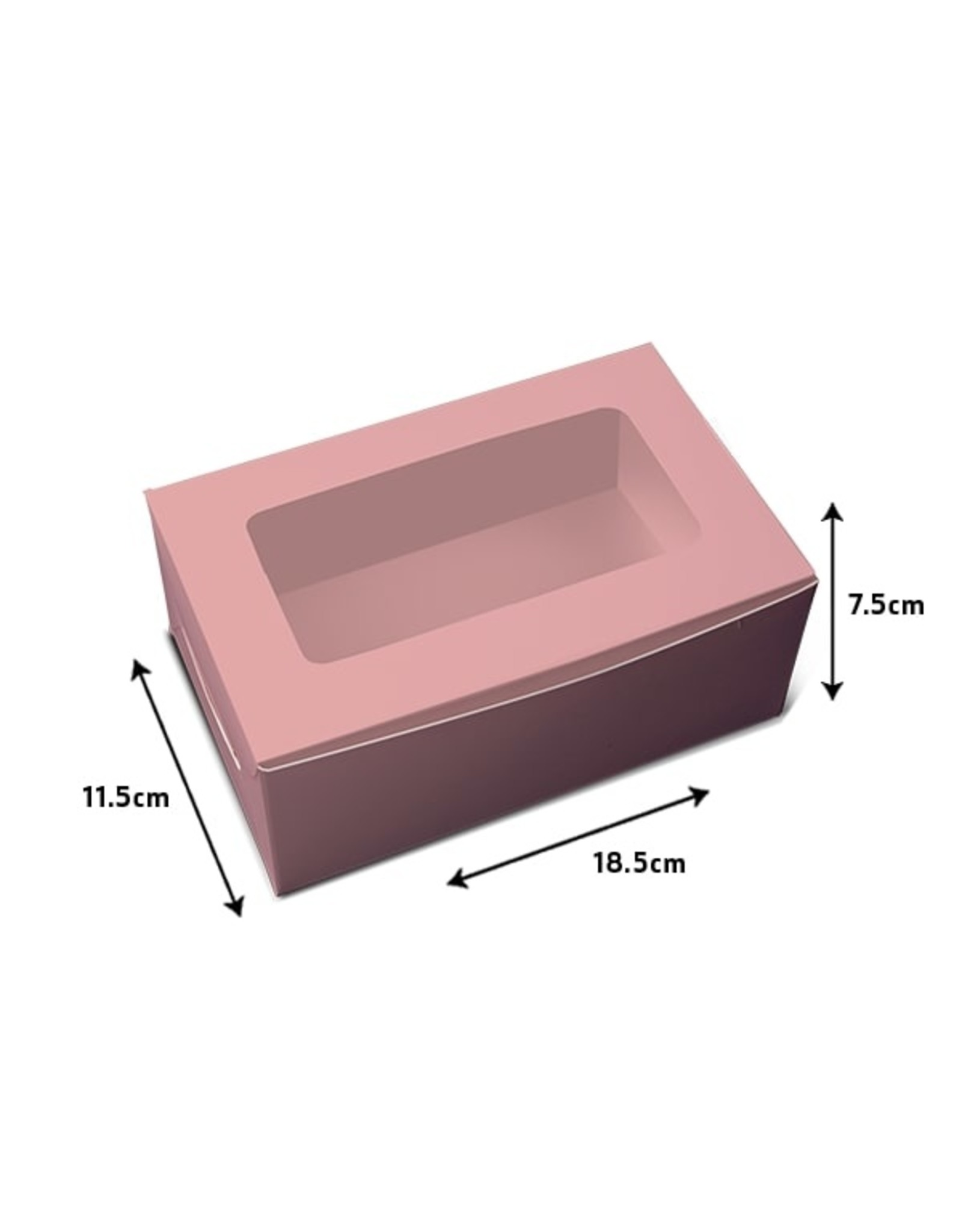 Pink box for 2 cupcakes (per 10 pieces)