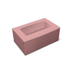 Pink box for 2 cupcakes (10 pcs.)