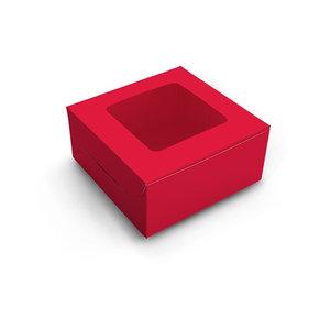 Rode doos voor 4 cupcakes (10 st.)