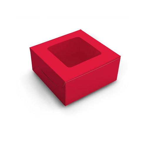Red box for 4 cupcakes (10 pcs.)