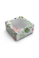 Fleurige taartdoos met venster - 203 x 203 x 127 mm (per 10 stuks)