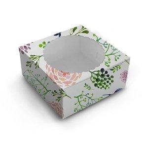 Floral window cake box - 20x20x13 (10 st)