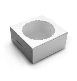 White window cake box - 20x20x13 (10 st)