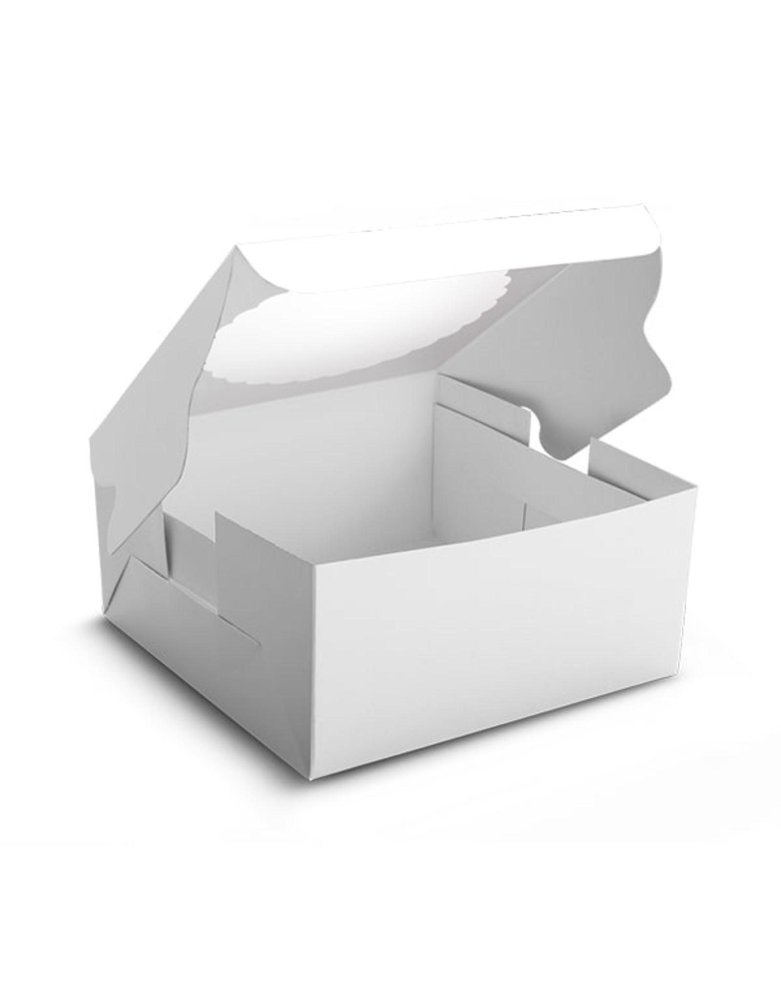White window cake box - 203 x 203 x 127 mm (per 10 pieces)