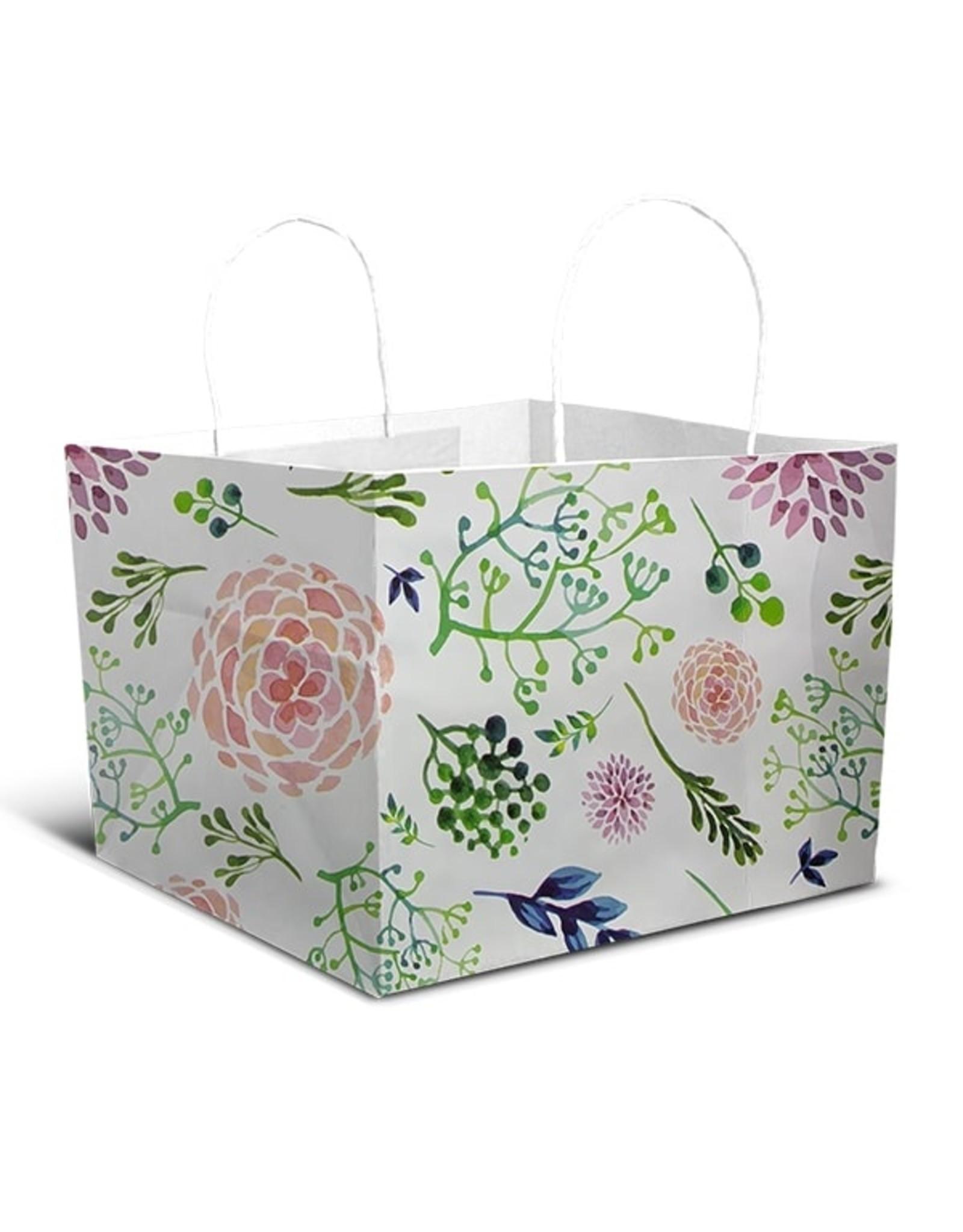 Fleurige tas - groot (per 10 stuks)
