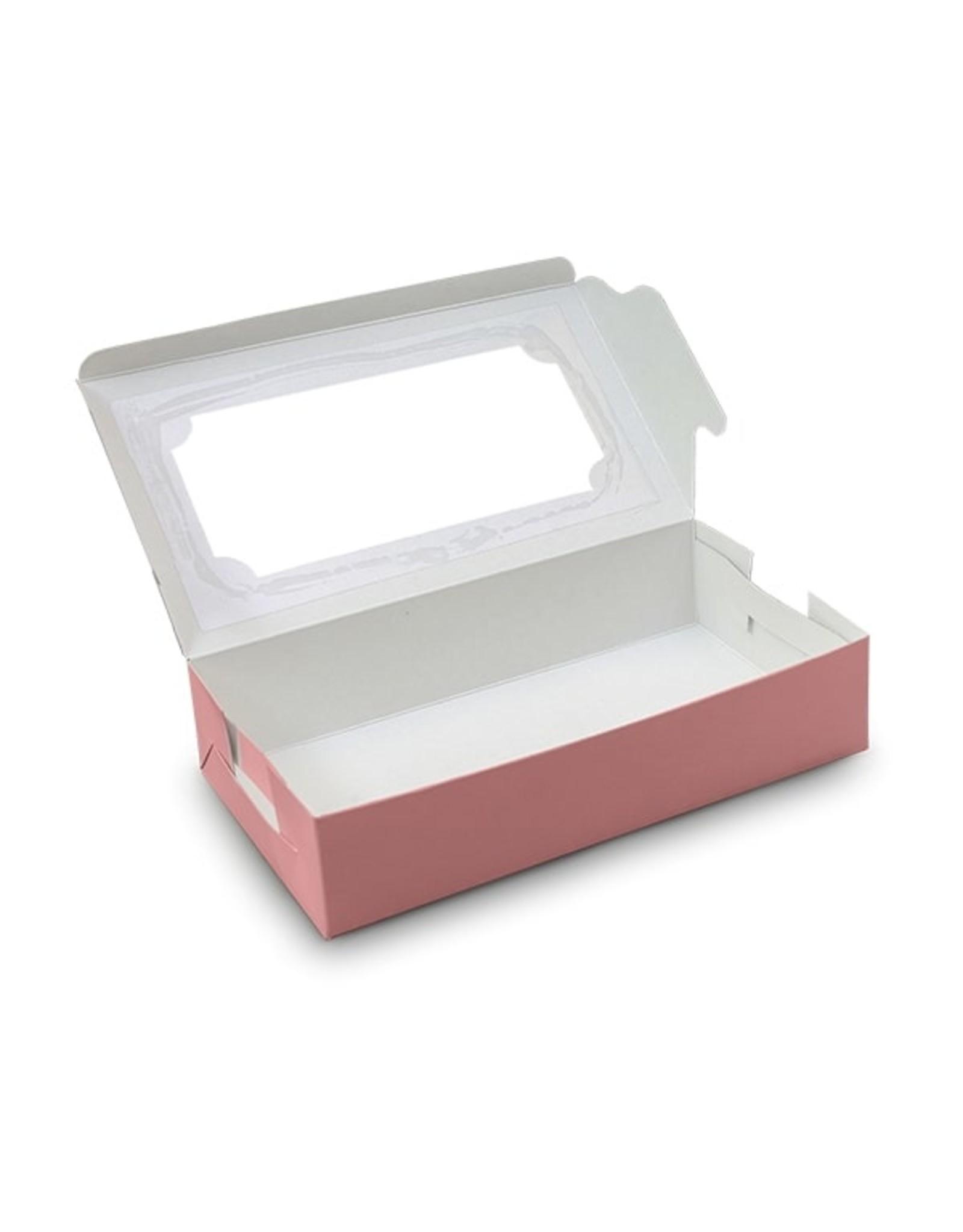 Pink sweetsbox - 23 x 12,5 x 5 cm (per 10 pieces)