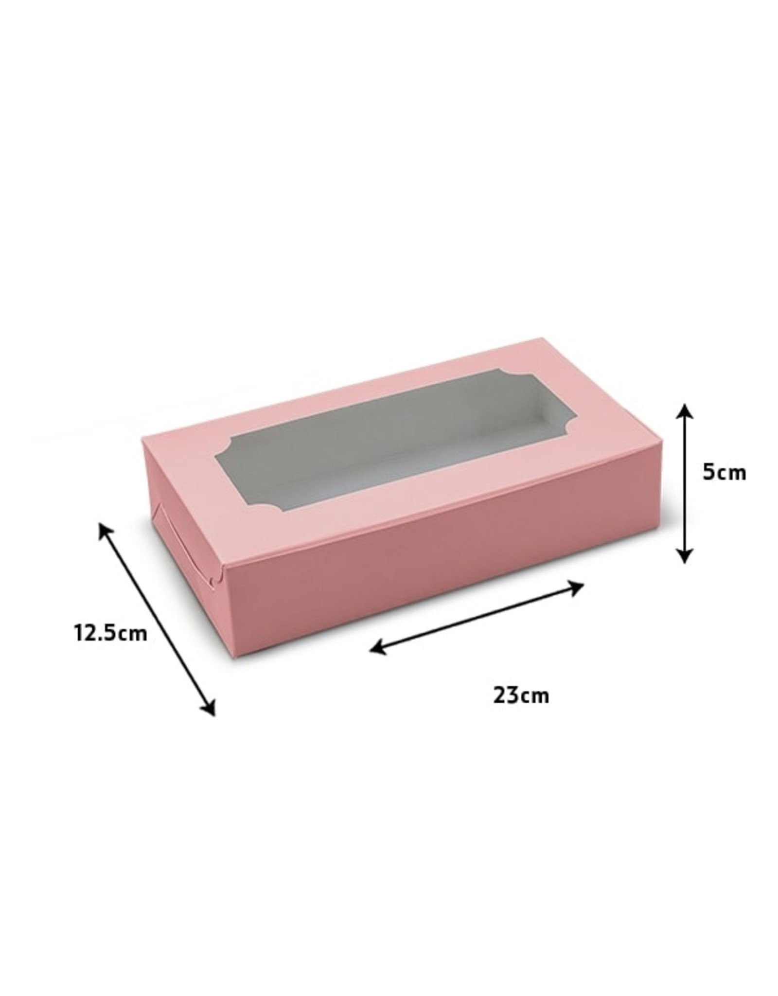 Roze sweetsbox - 23 x 12,5 x 5 cm (per 10 stuks)