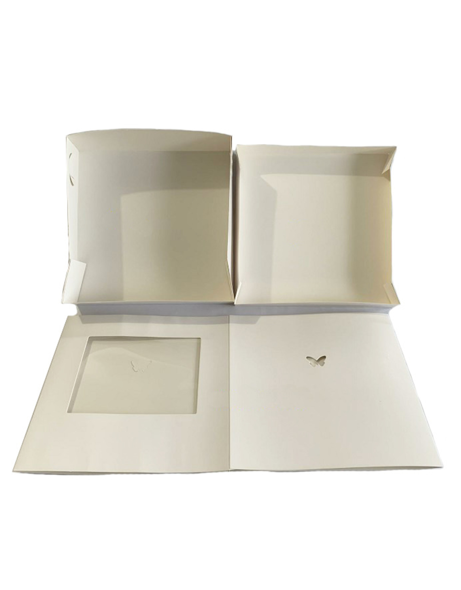 Hoge taartdoos met venster - 254 x 254 x 254 mm (per 10 stuks)